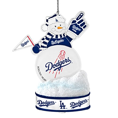 MLB Los Angeles Dodgers LED Snowman Ornament