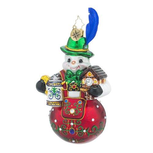 Christopher Radko Bavarian Frost Destination Snowman Christmas Ornament