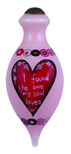 "Ne'Qwa Art, Valentine's Day Gifts, ""I Found The One"" Artist Cindy Shamp, Petite Brilliant-Shaped Glass Ornament, #7144101"