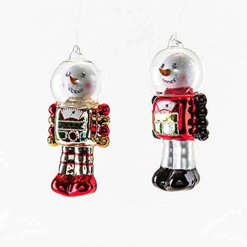 One Hundred 80 Degrees Snowman Robots (Set/2)