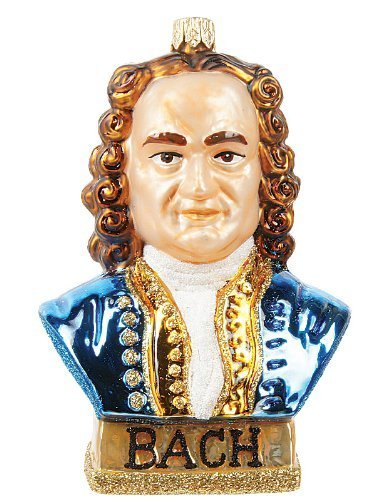 Beethoven Polish Mouth Blown Glass Christmas Ornament Famous Composer Decoration by Pinnacle Peak Trading Company