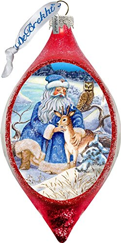 G. Debrekht Merry Christmas Glass Ornament Drop