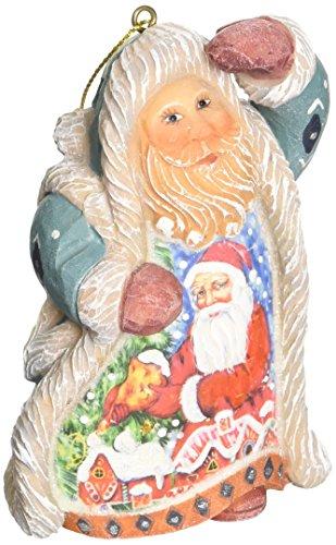 G. Debrekht Santa Gingerbread Ornament, 5″