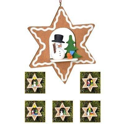 Alexander Taron 10-0810 Christian Ulbricht Ornament – Assorted Gingerbread Stars – set 6 pcs