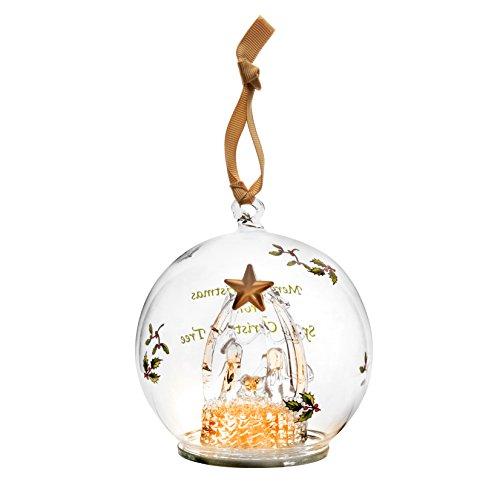 Spode Christmas Tree Ornament, Glass Manger