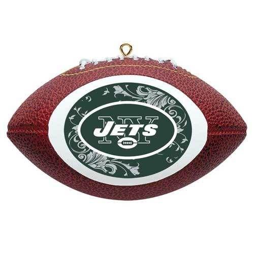 New York Jets NFL Mini Replica Football Christmas Ornament NY Holiday Decoration