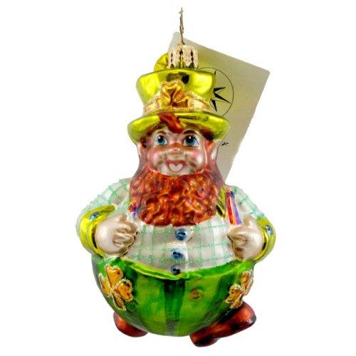Christopher Radko ROLLIN' O'REILLY Blown Glass Ornament Irish Leprechaun