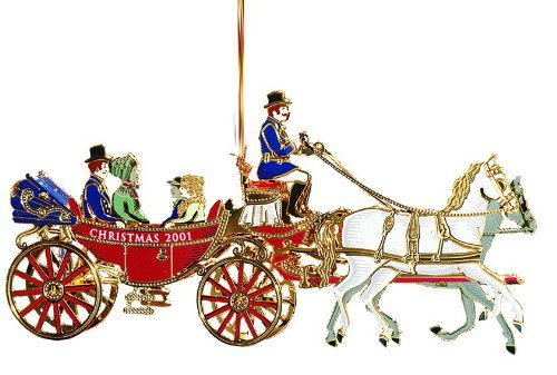 2001 White House Christmas Ornament, A First Family's Carriage Ride