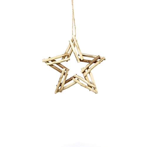 Sage & Co. XAO20130NA Natural Twig Star Ornament (6 Pack)
