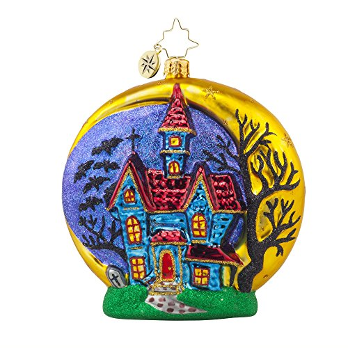 RADKO HALLOWEEN CHATEAU Haunted House Glass Ornament