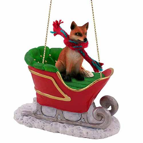 Fox Sleigh Ride Christmas Ornament Red – DELIGHTFUL!