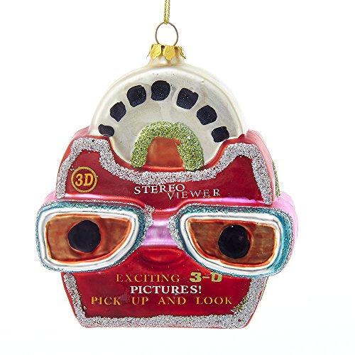 Kurt Adler Noble Gems Glass Picture Viewer Ornament