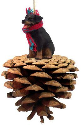 Rottweiler Real Pinecone Dog Christmas Ornament by Conversation Concepts