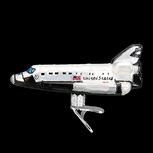 Old World Christmas Space Shuttle Glass Blown Ornament