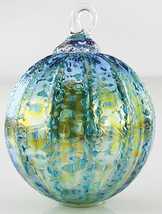 Glass Eye Studio Teal Luster Classic Ornament #167L