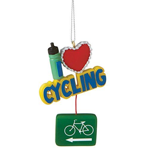 I Love Cycling Dangling Resin Christmas Tree Ornament