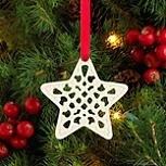 Lenox Charm Pierced Star Christmas Ornament