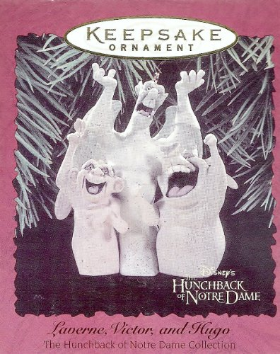 "1 X Hallmark Disney Hunchback of Notre Dame ""Laverne, Victor, and Hugo"" Keepsake Ornament"