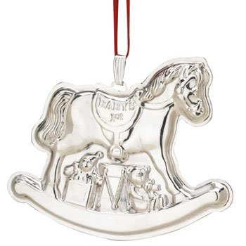 Reed & Barton Baby's First Rocking Horse Sterling Silver Ornament