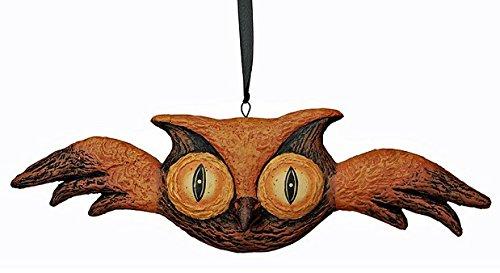 Flying Owl Paper Mache Halloween Hanger Ornament