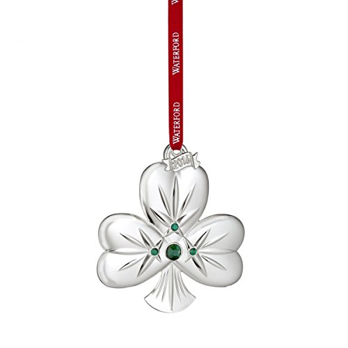 Waterford 2016 Silver Shamrock Ornament