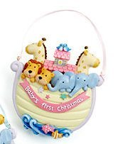 Macy's Holiday Lane Baby's First Christmas Noah's Ark Ornament