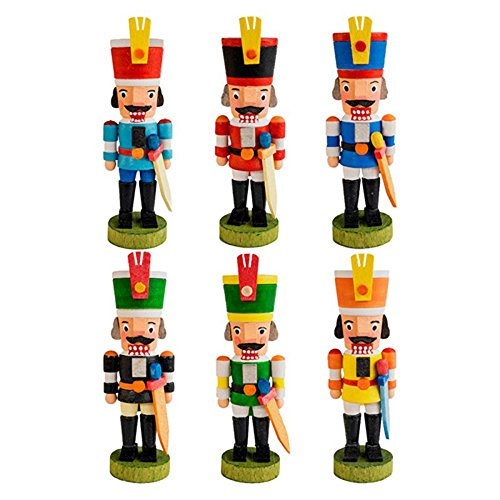 Graupner 3 in. Assorted Nutcracker Ornaments – Set of 6