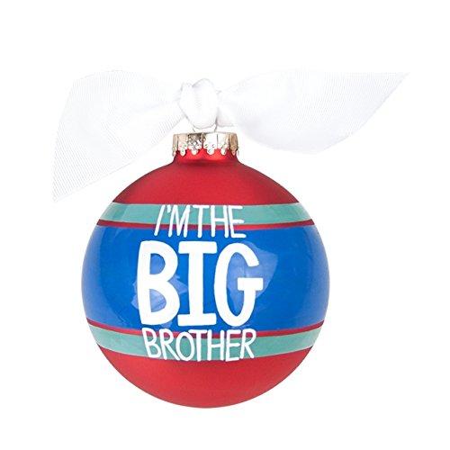 Coton Colors I'm the Big Brother Striped Glass Ornament