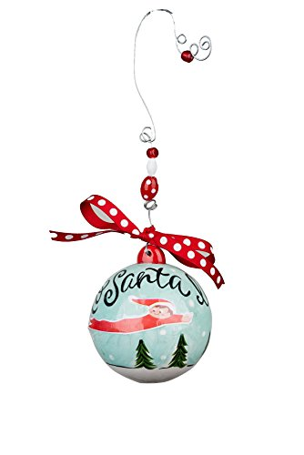 Glory Haus Elf To Santa I'll Fly Ball Ornament, 4.5″