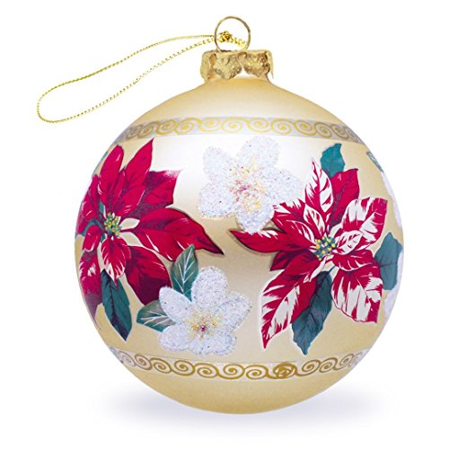 Island Heritage Festive Plumeria Gold Collectible Glass Hawaiian Ornament