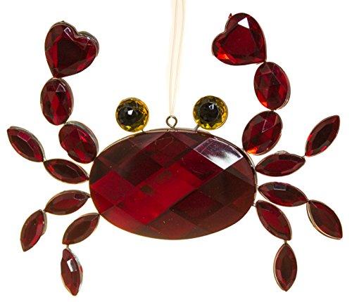 Crystal Expressions Acrylic 3-5 Inch Sea Life Ornament Suncatcher (Crab)