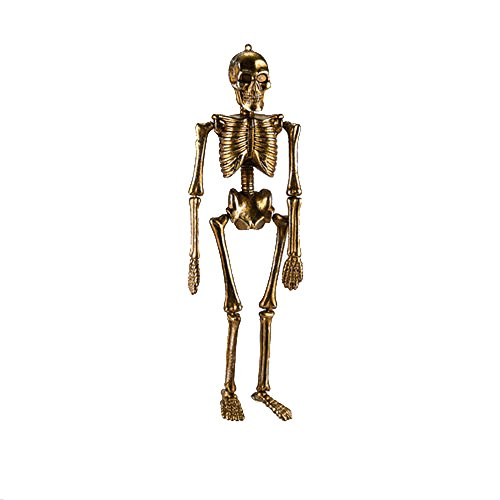 One Hundred 80 Degrees Gold Skeleton 16″ Hanging Ornament