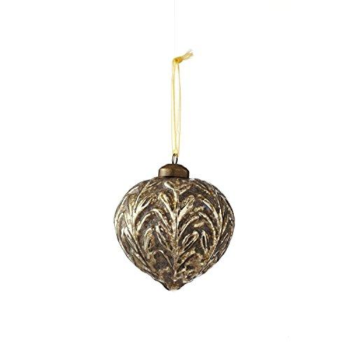 Sage & Co. XAO16738GD Glass Onion Ornament (4 Pack)