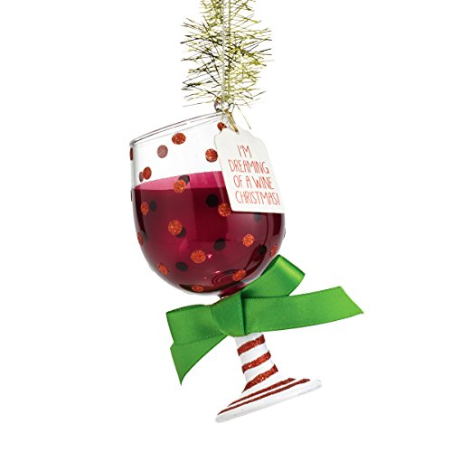 Department 56 Ornamentliday Spirits by Wine Glass Ornament 4.5 In