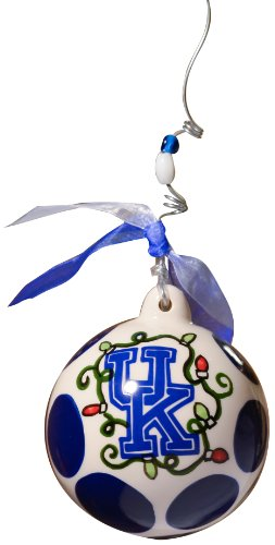 Glory Haus Kentucky Ball Ornament, 4 by 4-Inch