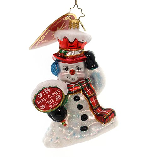 Christopher Radko Oh No Here I Go! Snowman Christmas Ornament