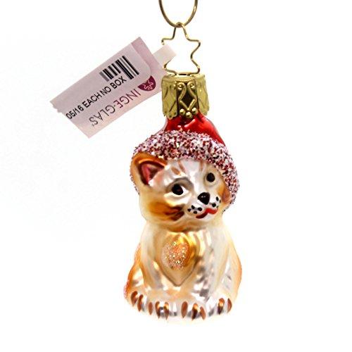 Inge Glas KRINGLE'S CHRISTMAS KITTY Glass Ornament Cat Kitten 103403
