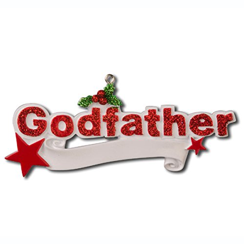 Godfather Personalized Christmas Holiday Ornament