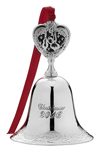 Wallace 2016 Silver Plate Grande Baroque Bell Ornament, 22Nd Edition