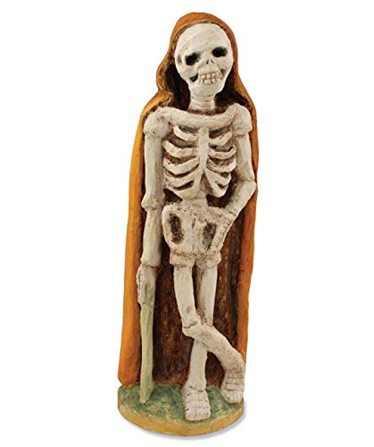 Bethany Lowe CC2486 Halloween Skeleton With Orange Cape