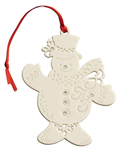 Belleek 7531 Snowman with Gems, 4.5-Inch, White