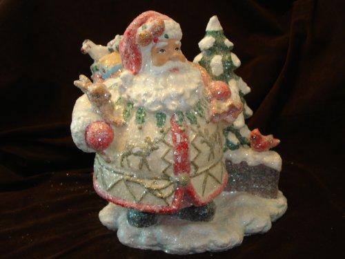 "Christopher Radko Christmas Ornament ""Timberland Trail Musical Santa"""