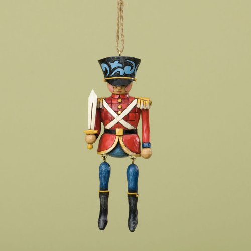 Jim Shore for Enesco Heartwood Creek Toy Soldier Dangling Ornament, 5-Inch