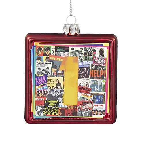 Kurt Adler Glass Beatles No.1 Album Cover Ornament, 3.5-Inch
