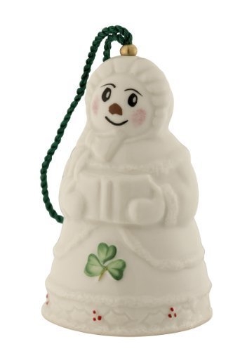 Belleek 4120 Snow Lady Bell Ornament, 2-Inch, White by Belleek