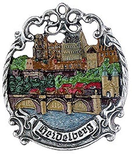 Heidelberg Germany City Skyline German Pewter Christmas Ornament Decoration