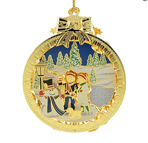 New 24kt Gold Finished 3D Frosty the Snowman Christmas Tree Ornament