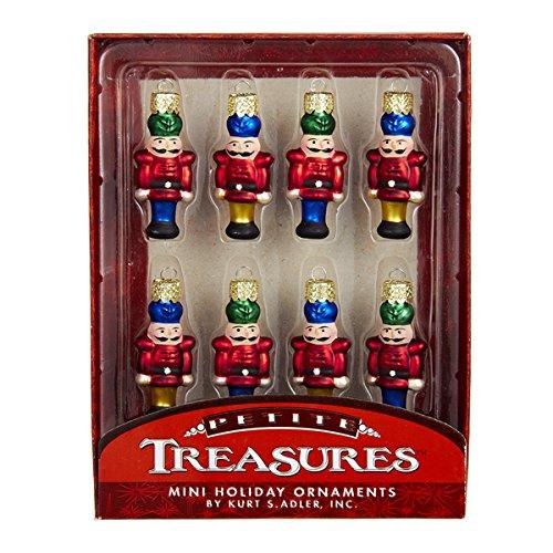 Kurt Adler Petite Treasuers Holiday Nutcracker Ornament, Set of 8