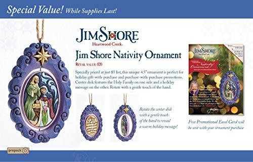 Jim Shore for Enesco Jim Shore Heartwood Creek by Enesco Holy Family Rotating Disk Ornament