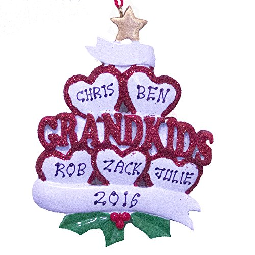 Personalized Grandkids Ornament for 5 – Free Personalization